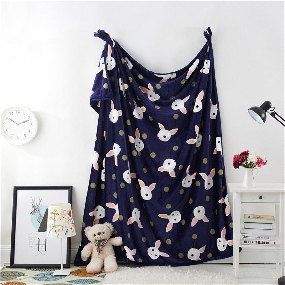 Weina Lovely Rabbit la couverture - Bleu W70INCH*L79INCH