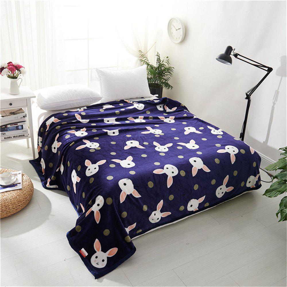 Weina Lovely Rabbit la couverture - Bleu W59 INCH * L79 INCH