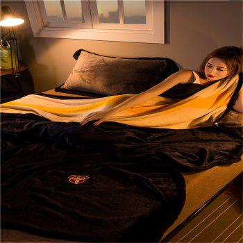 Weina Contracted Colour The Blanket - BLACK BLACK