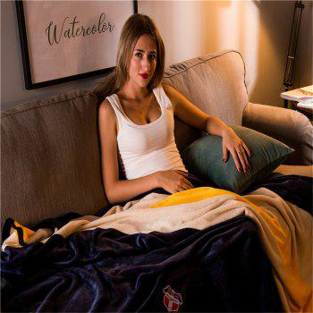 Weina Contracted Colour The Blanket - BLACK W59 INCH * L79 INCH