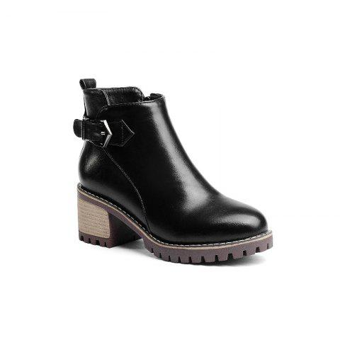 Round Head with The Bold Fashion with Bare Boots - BLACK 38