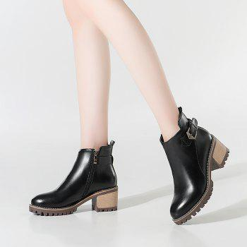 Round Head with The Bold Fashion with Bare Boots - BLACK 42