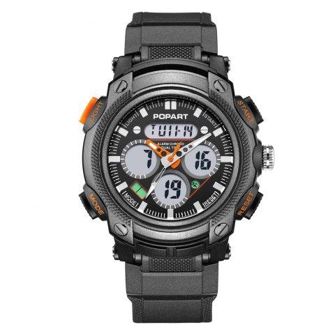 POPART 765AD Outdoor LED Digital Sports Multifunction Wristwatch for Men - ORANGE