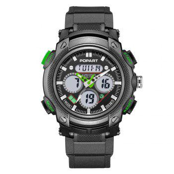 POPART 765AD Outdoor LED Digital Sports Multifunction Wristwatch for Men - GREEN GREEN