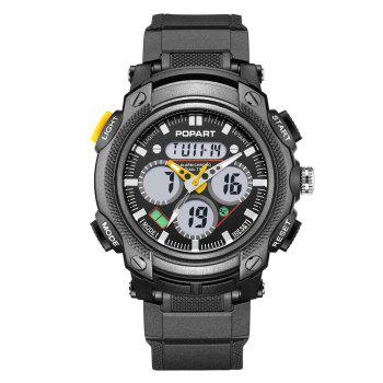 POPART 765AD Outdoor LED Digital Sports Multifunction Wristwatch for Men - YELLOW YELLOW