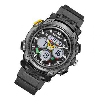 POPART 765AD Outdoor LED Digital Sports Multifunction Wristwatch for Men -  YELLOW