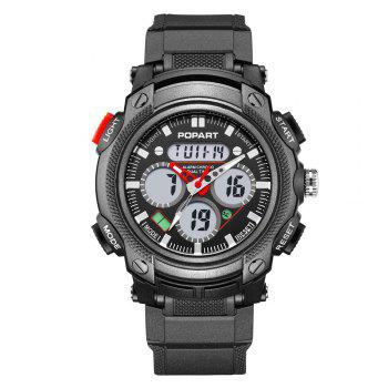 POPART 765AD Outdoor LED Digital Sports Multifunction Wristwatch for Men - RED RED