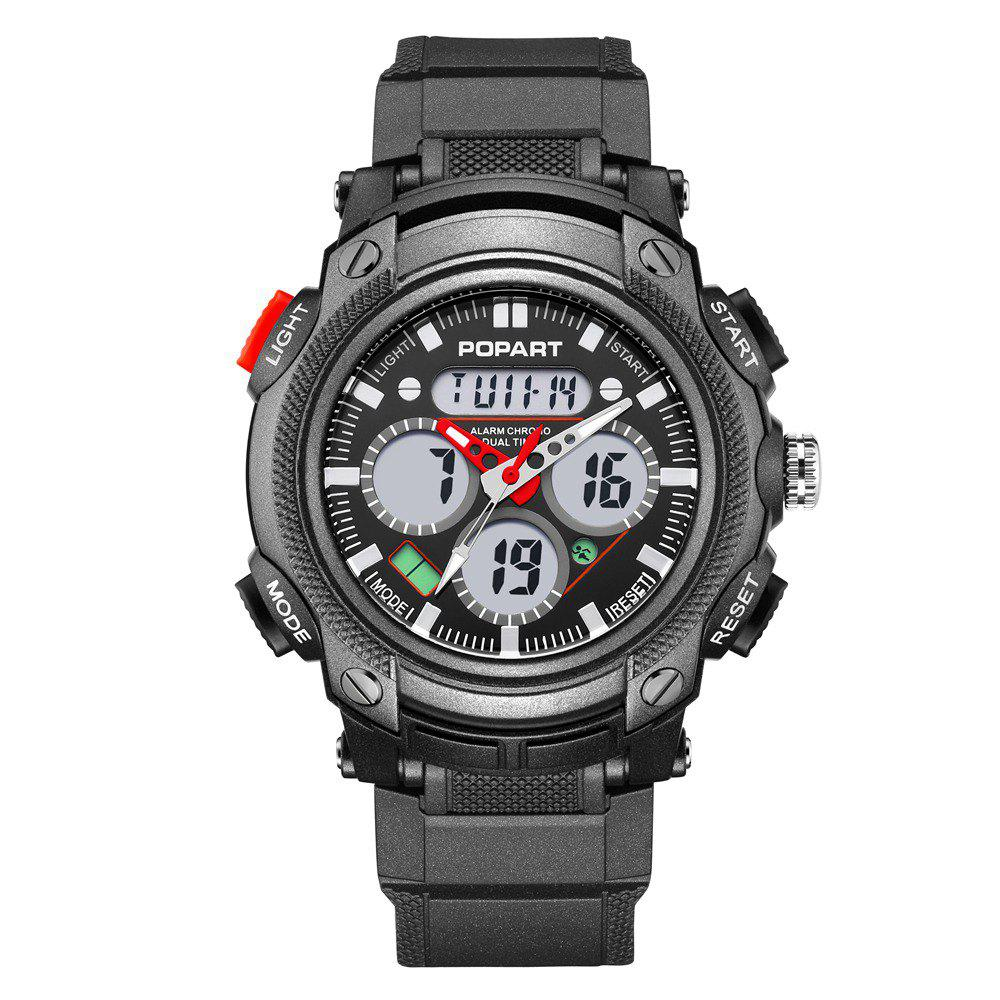 POPART 765AD Outdoor LED Digital Sports Multifunction Wristwatch for Men - RED