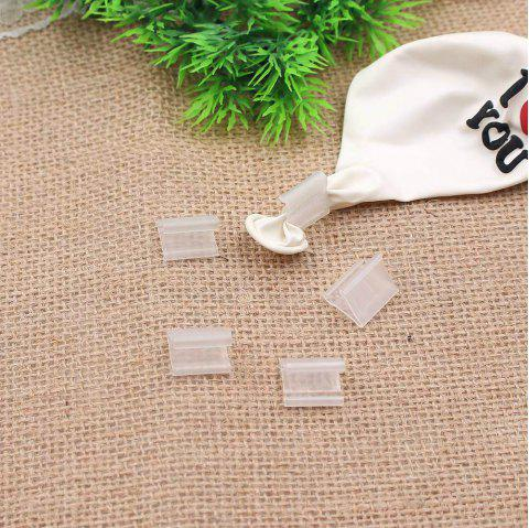 100PCS Balloons Sealing Clip Ballon Buttons Clips Wedding/Birthday/Christmas Party Decoration Supplies - TRANSPARENT