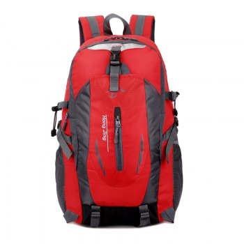 Men'S Ladies Outdoor Hiking Bag Casual Backpack - RED RED