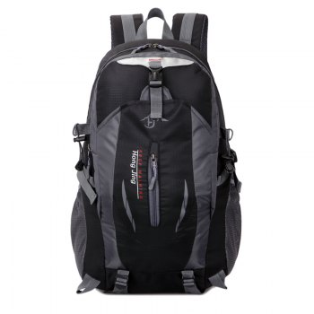 Men'S Ladies Outdoor Hiking Bag Casual Backpack - BLACK BLACK