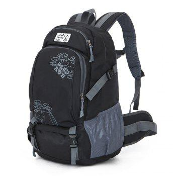 Hommes Femmes Outdoor Alpinisme Sacs Waterproof Sports Backpack - Noir