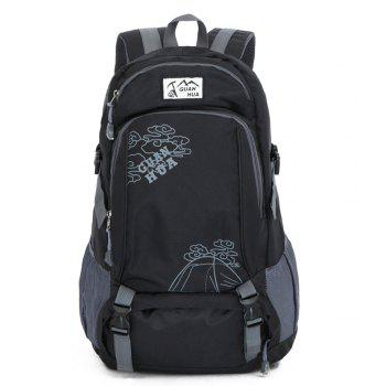 Men women Outdoor Mountaineering Bags Waterproof Sports Backpack - BLACK BLACK