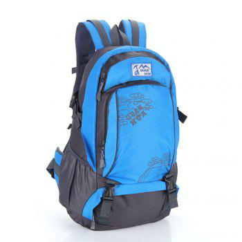 Men women Outdoor Mountaineering Bags Waterproof Sports Backpack - BLUE