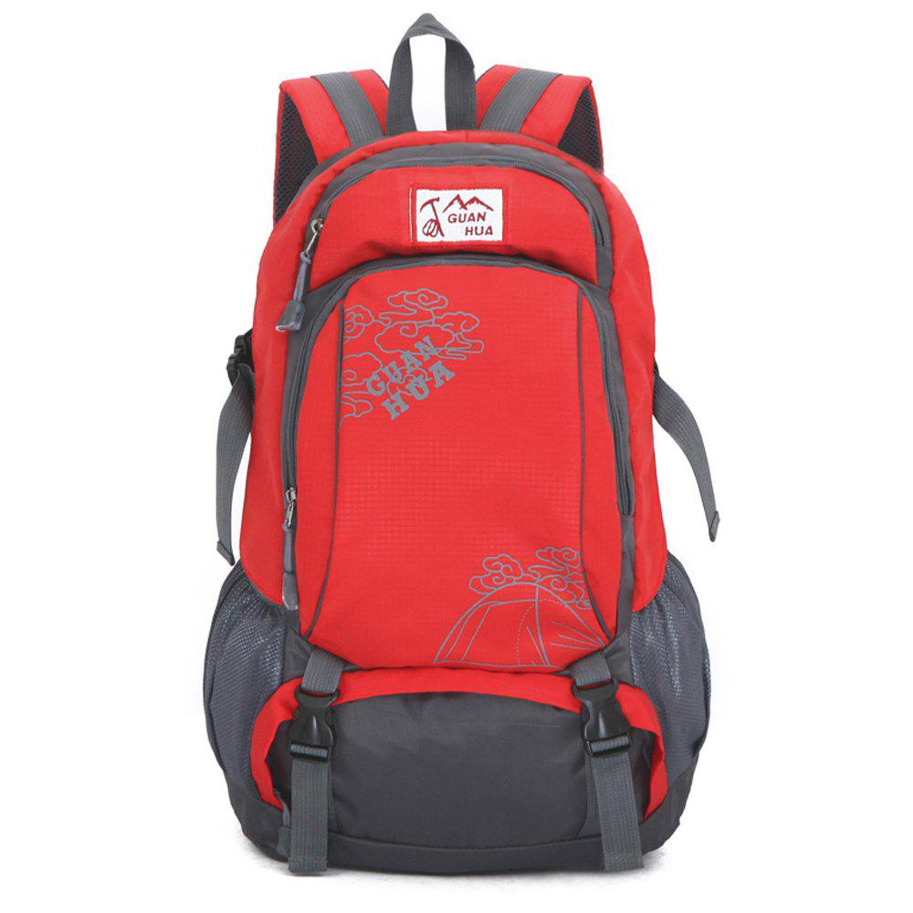 Men women Outdoor Mountaineering Bags Waterproof Sports Backpack - RED