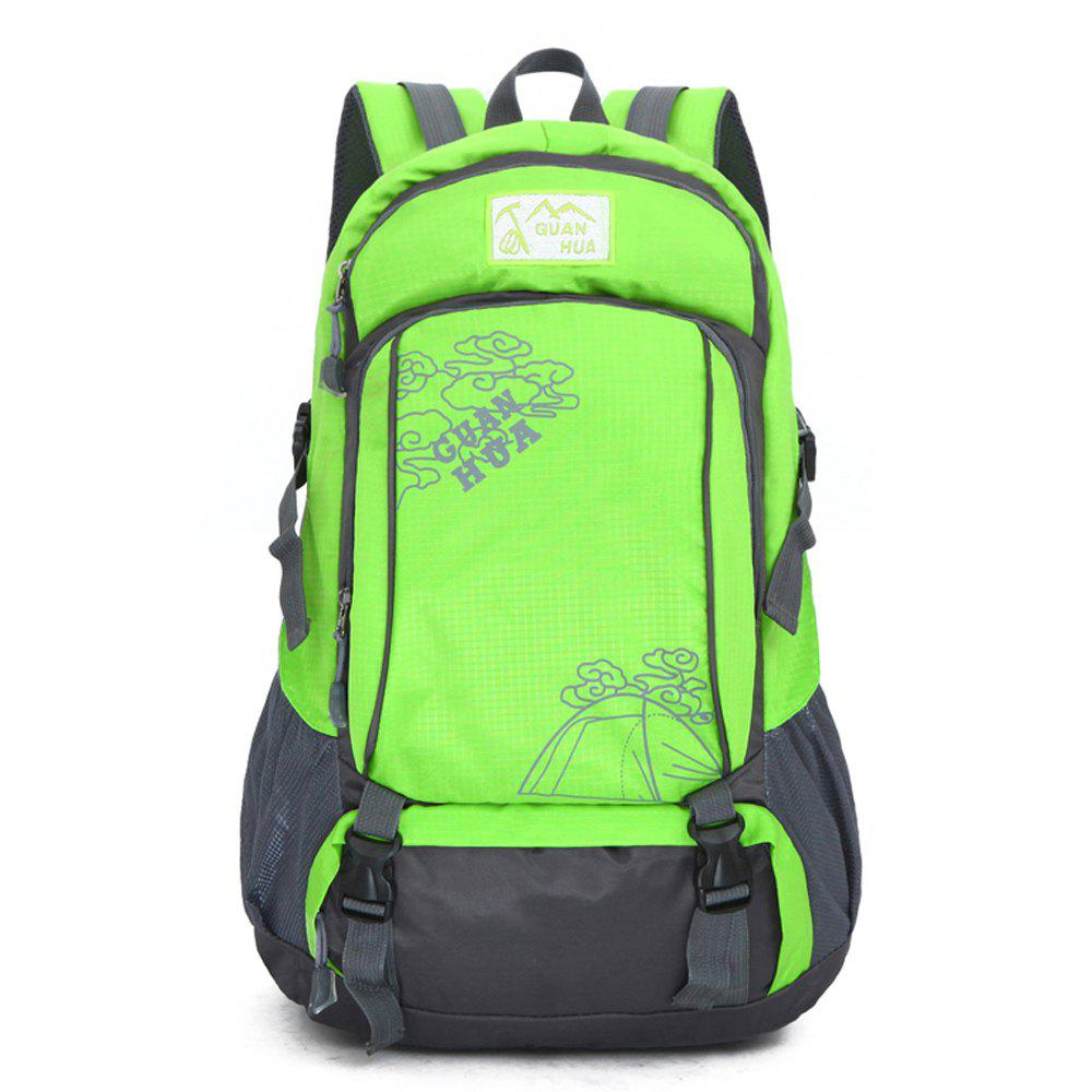 Hommes Femmes Outdoor Alpinisme Sacs Waterproof Sports Backpack - Vert