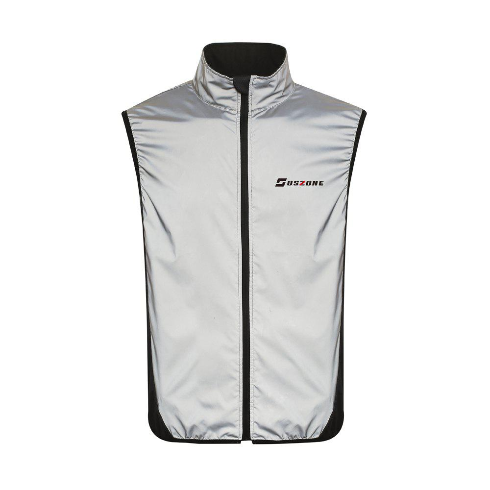 Supersoft Reflective Running Vest - BLACK L