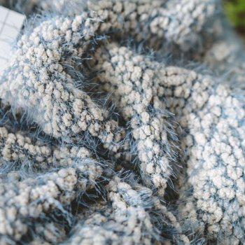 The New Product is Super Soft With Warm Yarn Blanket - BLUE GRAY BLUE GRAY