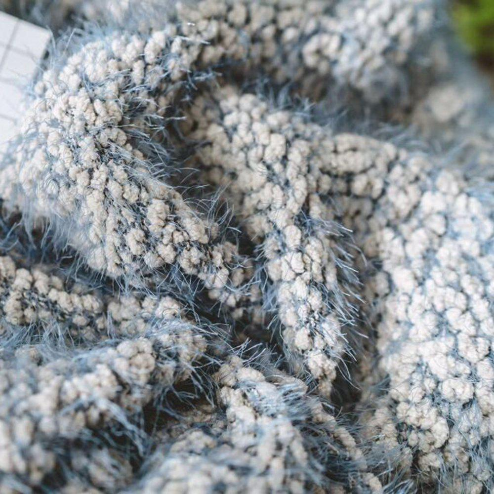 The New Product is Super Soft With Warm Yarn Blanket - BLUE GRAY 130CM X 160CM