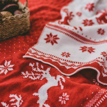 Christmas Style Red Knitwear With A Casual Blanket - RED 130CM X 160CM