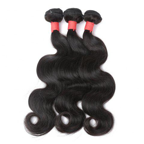Brazilian Body Wave Virgin Human Hair Weave Exention Bunldes 3 Pieces 8 inch - 26 inch - BLACK 24INCH*24INCH*24INCH