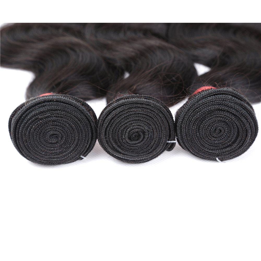 Brazilian Body Wave Virgin Human Hair Weave Exention Bunldes 3 Pieces 8 inch - 26 inch - BLACK 8INCH*8INCH*10INCH