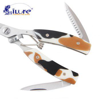 Ilure Multifunction Fishing Plier19cm 130G - CAMOUFLAGE GRAY