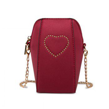 Ladies Sweet Matte Rivets Crossbody Bag