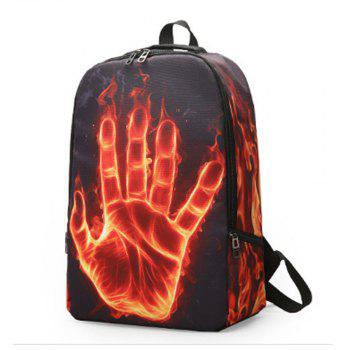 Women's Backpack Cool Animation Pattern Print School Bag     Women's Backpack Cool Animation Pattern Print School Ba - BLACK
