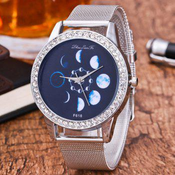 ZhouLianFa New Fashion Silver Belt Luxury Diamond Women Movement Quartz Watch -  SILVER