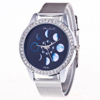 ZhouLianFa New Fashion Silver Belt Luxury Diamond Women Movement Quartz Watch - SILVER SILVER
