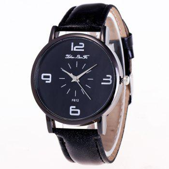 ZhouLianFa New Trend Outdoor Crystal Grain Quartz Watch - BLACK BLACK