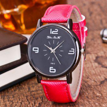 ZhouLianFa New Trend Outdoor Crystal Grain Quartz Watch - ROSE RED