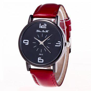 ZhouLianFa New Trend Outdoor Crystal Grain Quartz Watch - CLARET CLARET