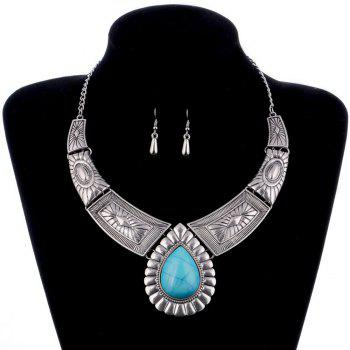 Women Vintage Jewelry Water Drop Pendant Necklace