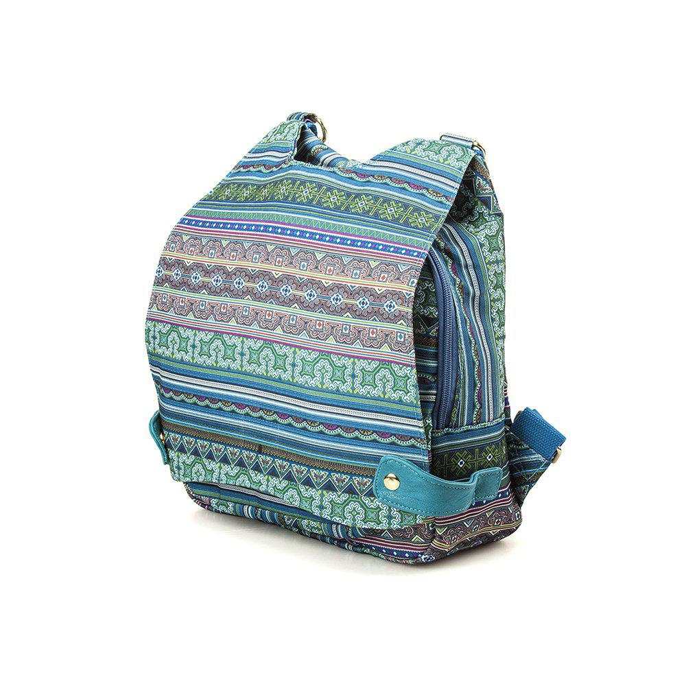 Multi-function Canvas Backpack Top Handle Backpack Women Backpack - GREEN