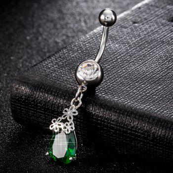 Fashion Simple Water Drop Shaped Petal Navel