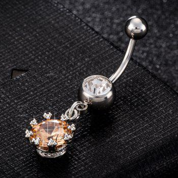 Simple Aesthetic Petal Zircon Navel Ring P0170