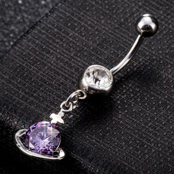 Fashion Colorful Small Universe Zircon Navel Ring