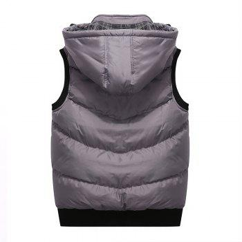 Winter Men'S Vest Sleeveless Cotton Coat - GRAY 3XL