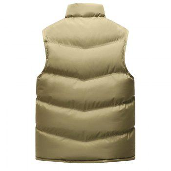 Autumn and Winter Men'S Casual Jacket Collar Vest - KHAKI KHAKI