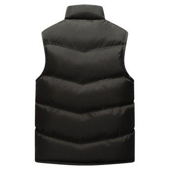 Autumn and Winter Men'S Casual Jacket Collar Vest - BLACK M