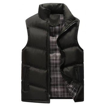 Autumn and Winter Men'S Casual Jacket Collar Vest - BLACK BLACK