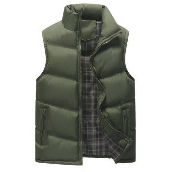 Autumn and Winter Men'S Casual Jacket Collar Vest - ARMYGREEN ARMYGREEN
