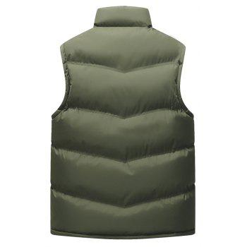 Autumn and Winter Men'S Casual Jacket Collar Vest - ARMYGREEN L