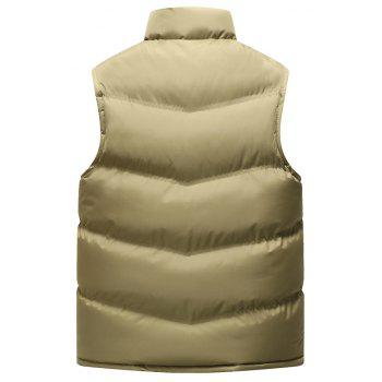 Autumn and Winter Men'S Casual Jacket Collar Vest - KHAKI L