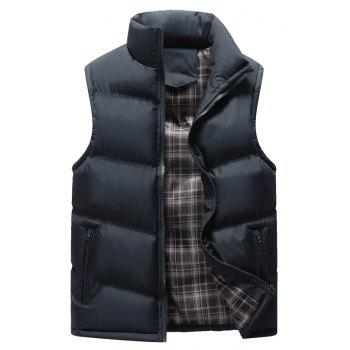 Autumn and Winter Men'S Casual Jacket Collar Vest - BLUE BLUE