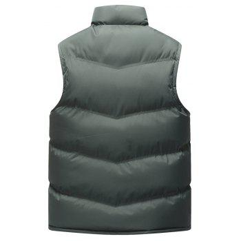 Autumn and Winter Men'S Casual Jacket Collar Vest - GRAY 3XL