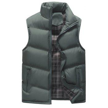 Autumn and Winter Men'S Casual Jacket Collar Vest - GRAY GRAY