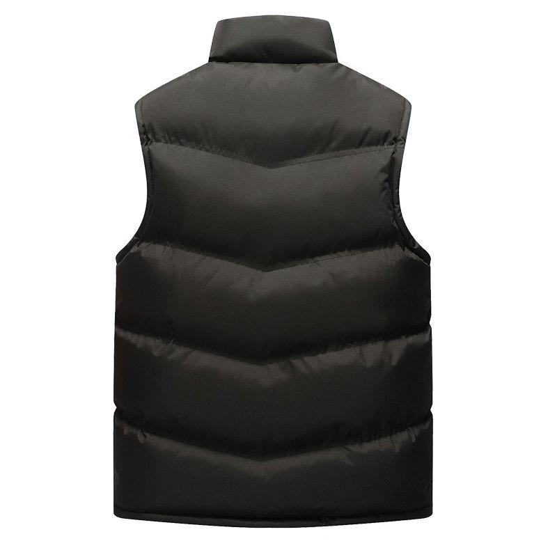 Autumn and Winter Men'S Casual Jacket Collar Vest - BLACK 3XL